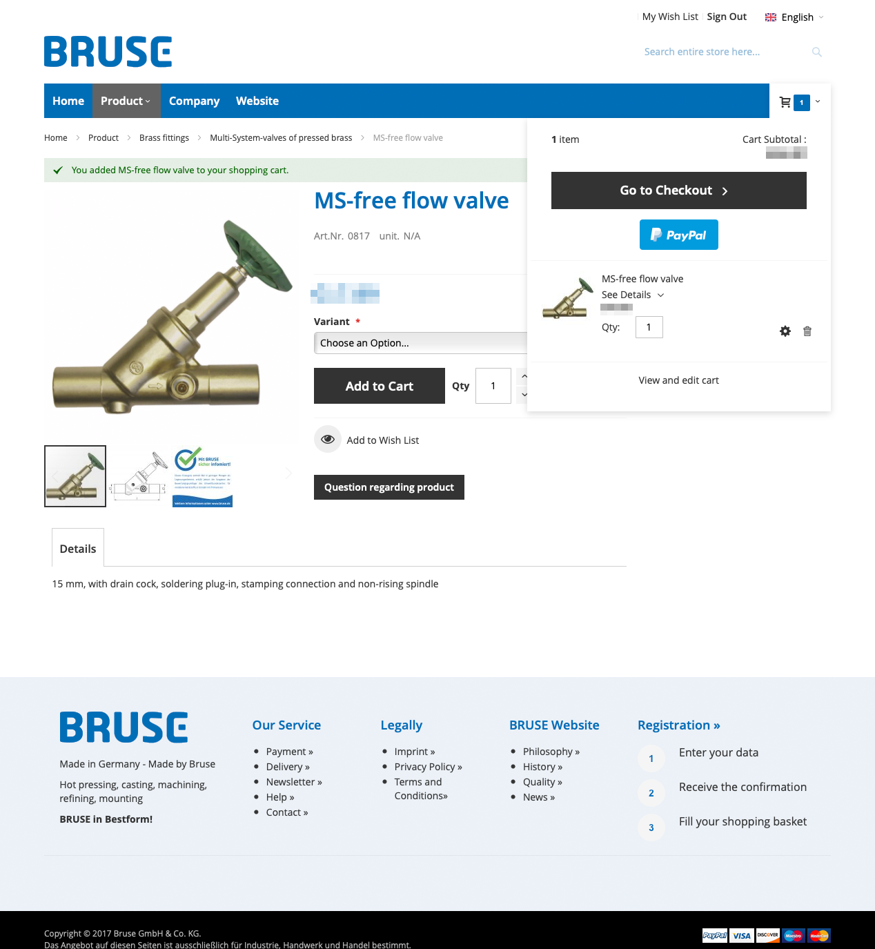 4 Bruse go to checkout