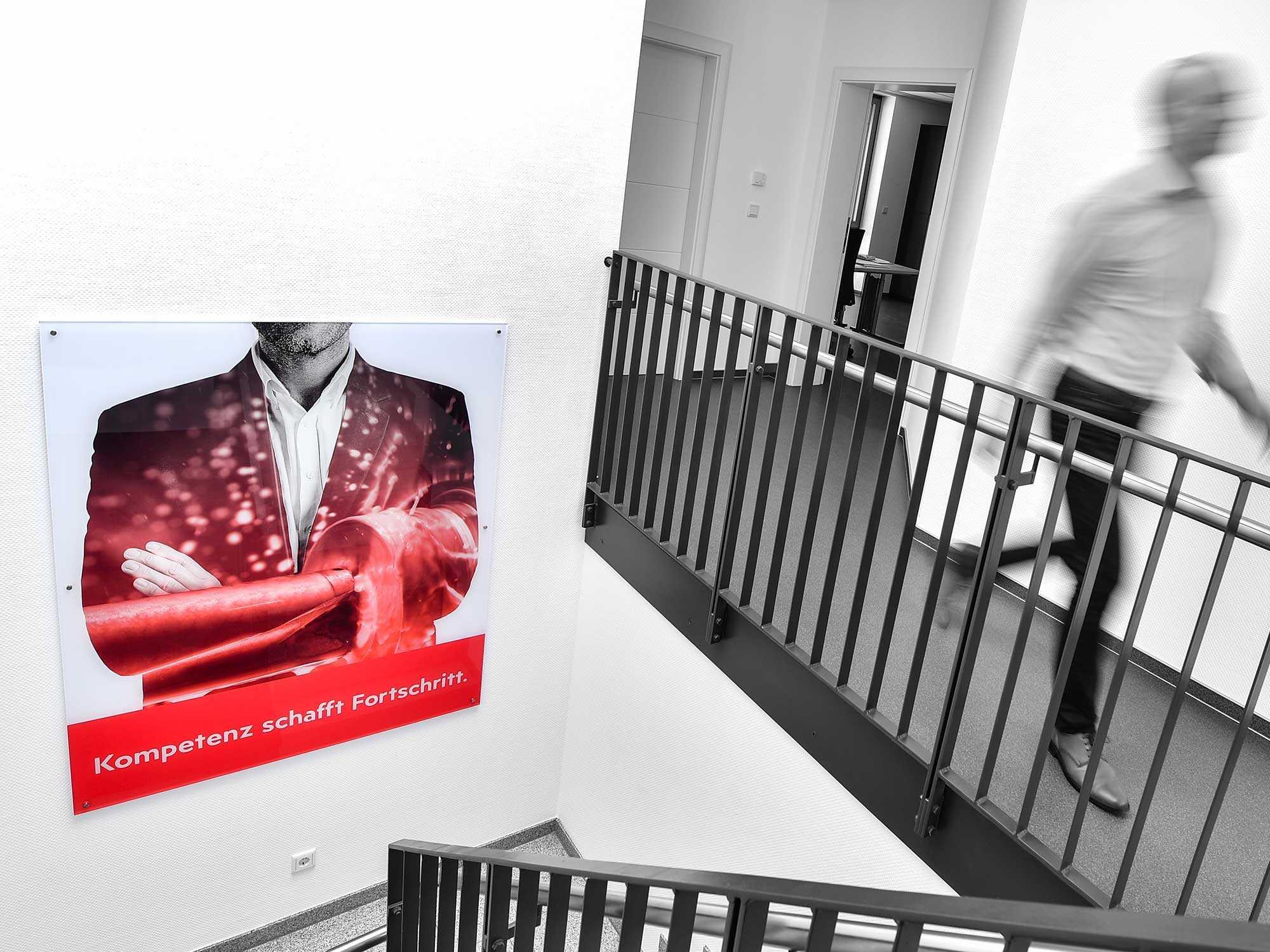 correlio Projekt KAISER SÖHNE Treppenaufgang